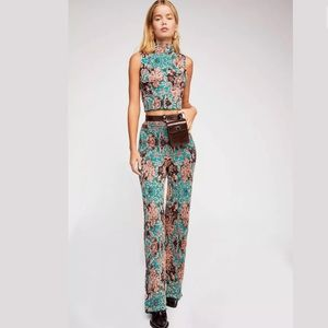 FREE PEOPLE I DREAM OF JACQUARD KNIT TOP PANTS SET